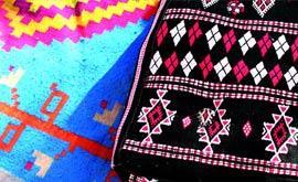Weberei und Teppiche